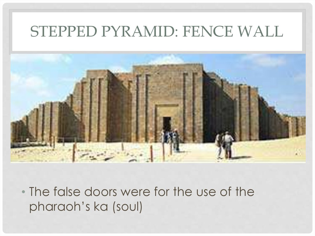 Stepped Pyramid: fence wall