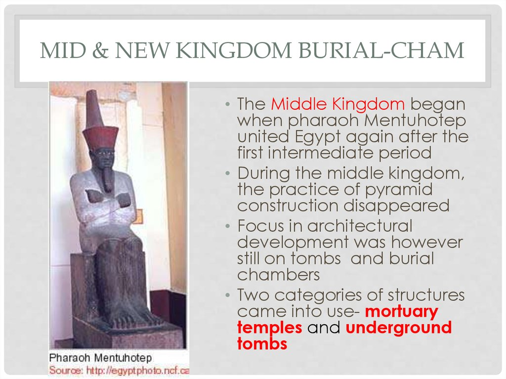 Mid & New Kingdom Burial-Cham