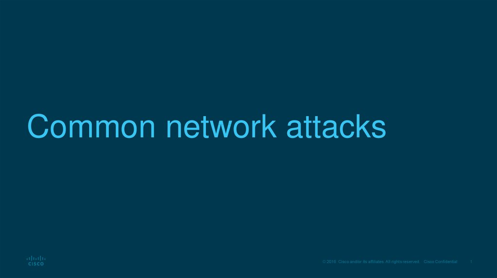 Common network attacks