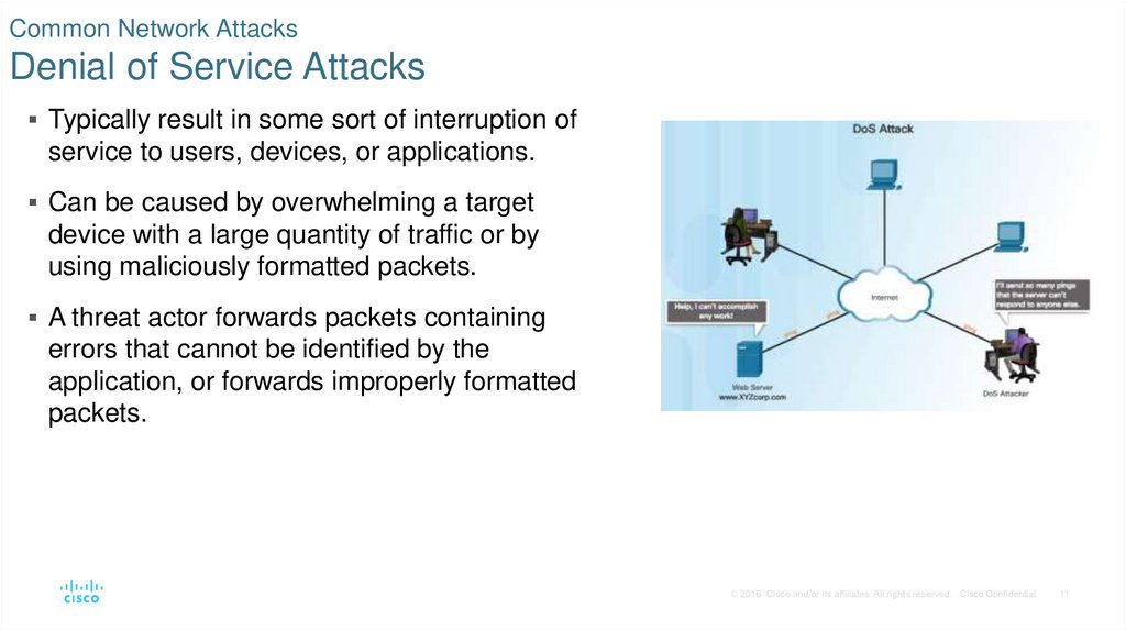Common Network Attacks Denial of Service Attacks