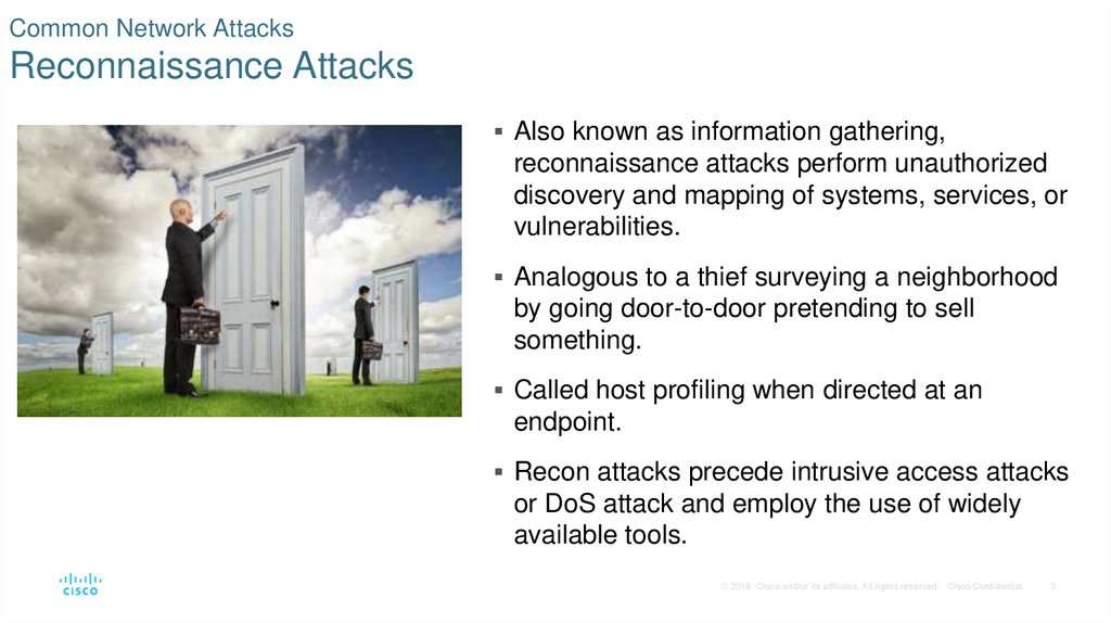 Common Network Attacks Reconnaissance Attacks