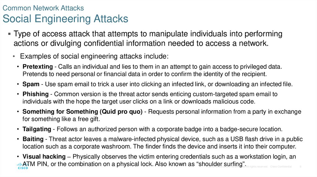 Common Network Attacks Social Engineering Attacks