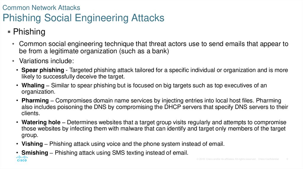 Common Network Attacks Phishing Social Engineering Attacks