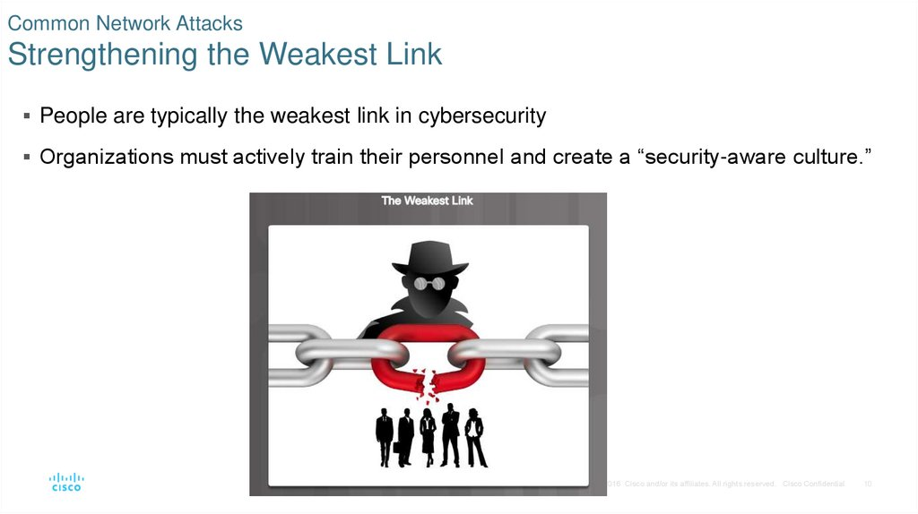 Common Network Attacks Strengthening the Weakest Link