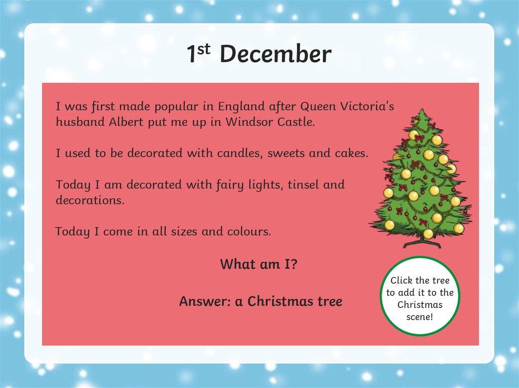 Christmas Riddles Advent Calendar Online Presentation