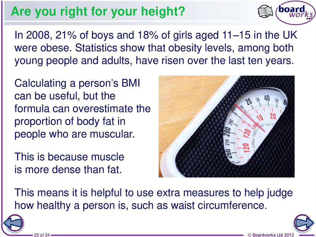 Are you right for your height?