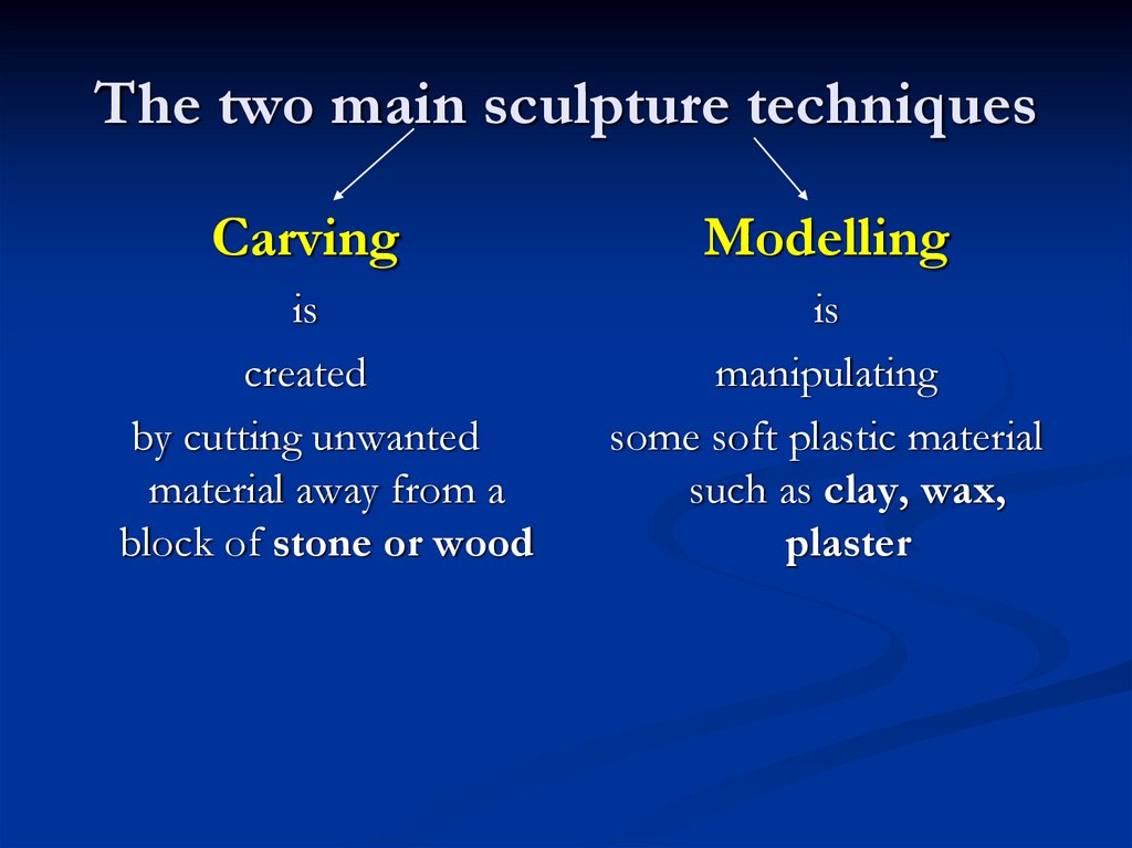 The two main sculpture techniques