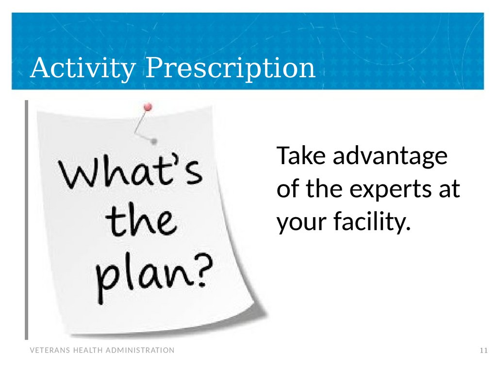 Activity Prescription
