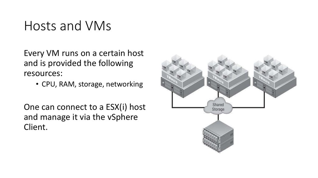 Hosts and VMs