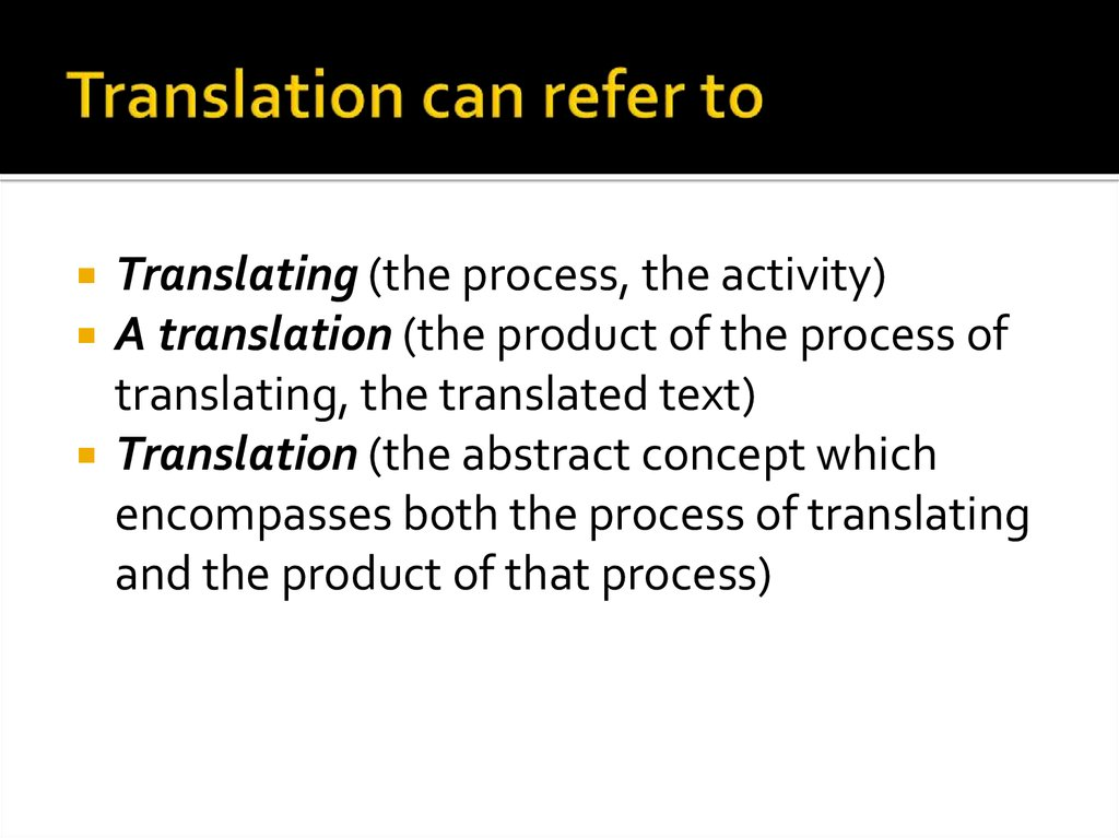 Translation can refer to