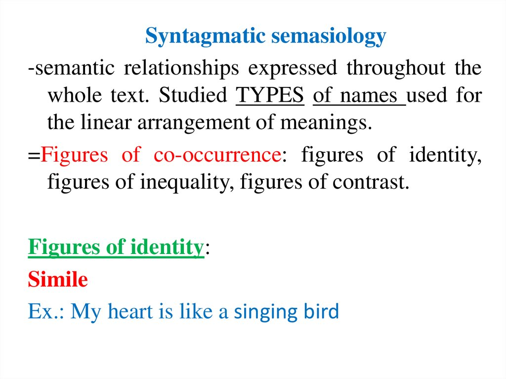 Syntagmatic semasiology