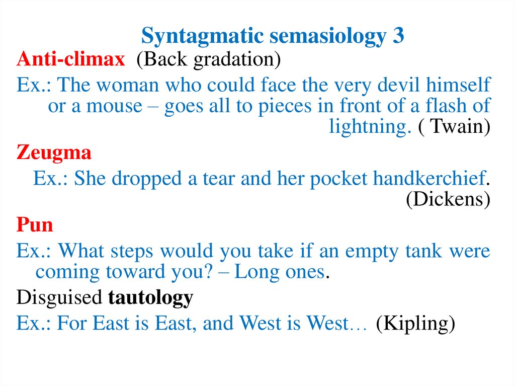 Syntagmatic semasiology 3