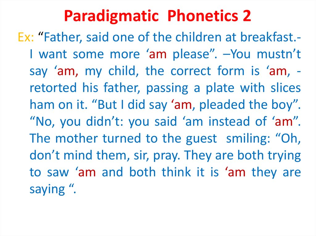Paradigmatic Phonetics 2