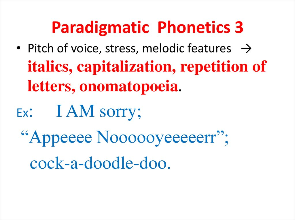 Paradigmatic Phonetics 3