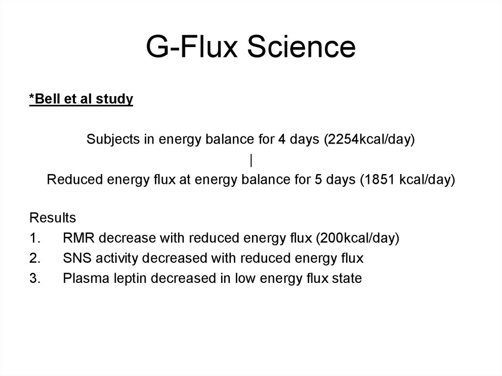 G-Flux Science