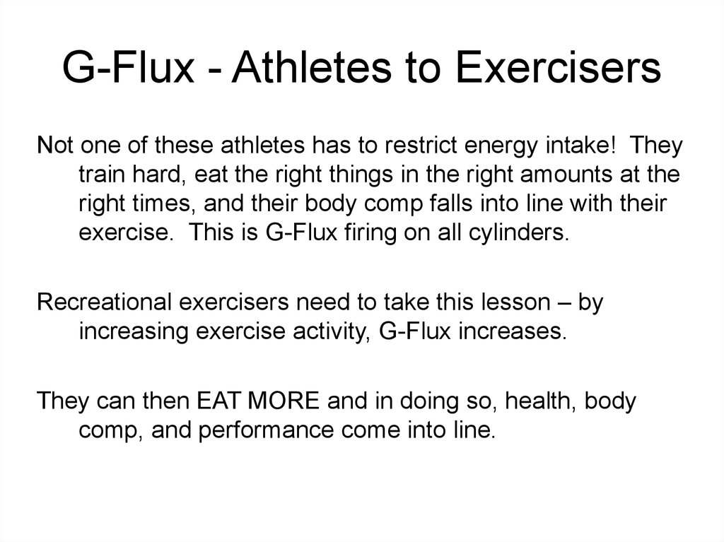G-Flux - Athletes to Exercisers