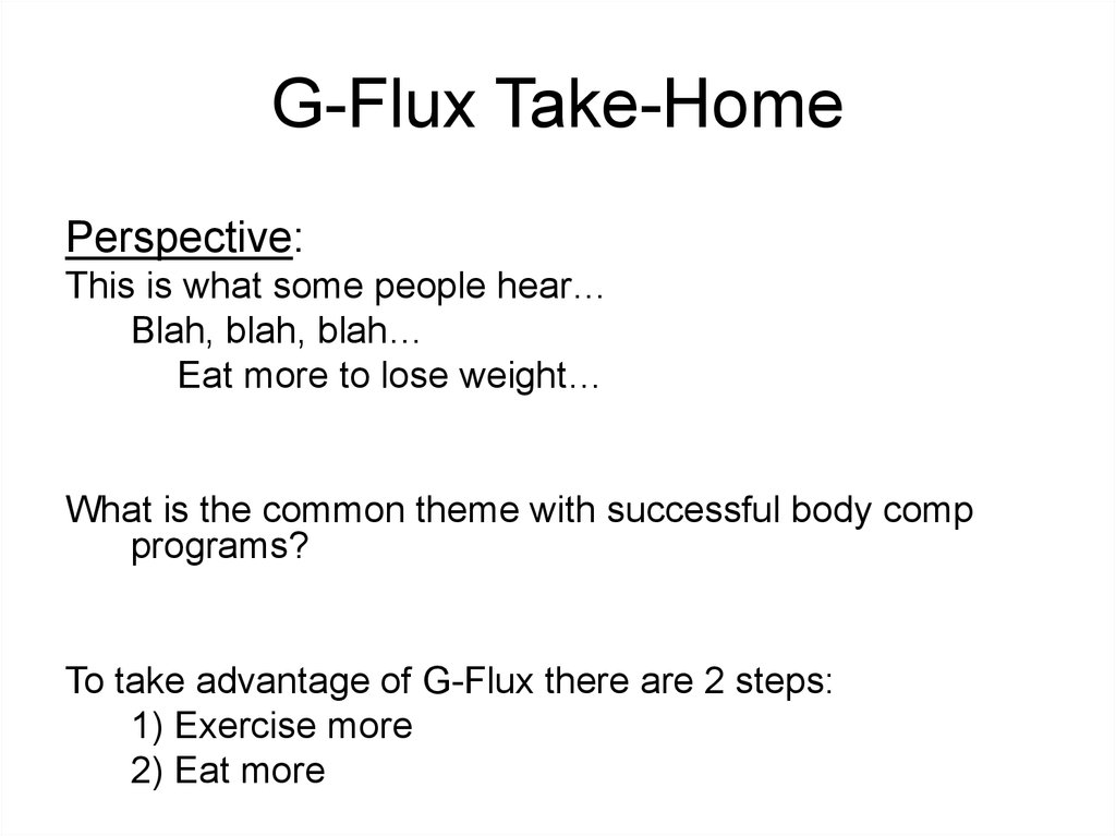 G-Flux Take-Home