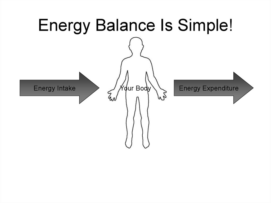 Energy Balance Is Simple!