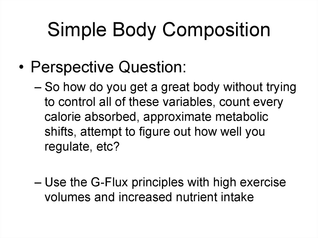 Simple Body Composition
