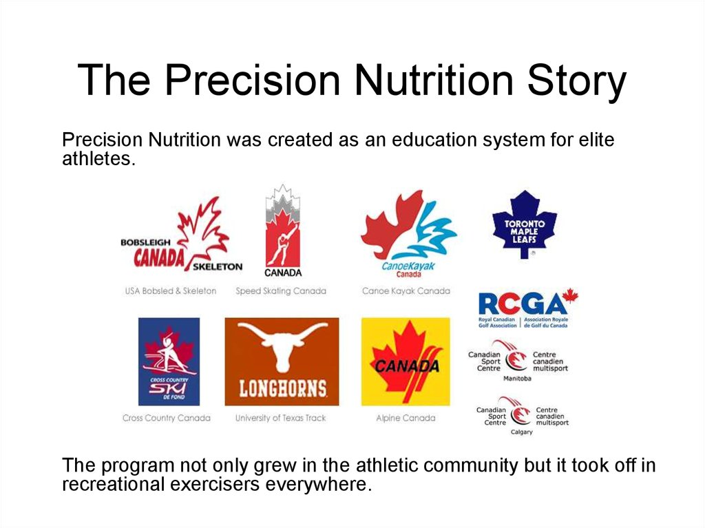 The Precision Nutrition Story