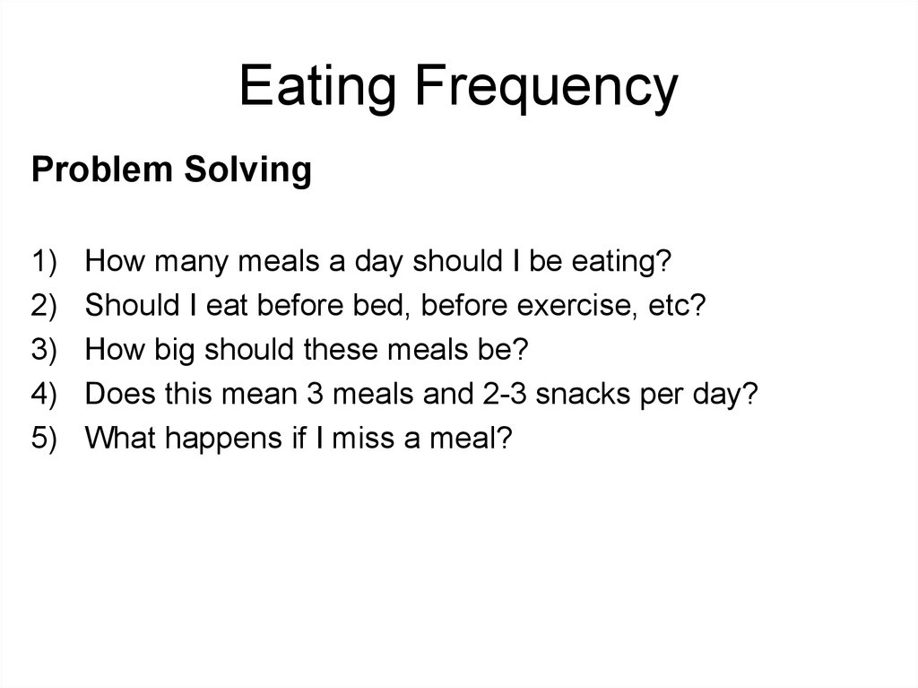 Eating Frequency