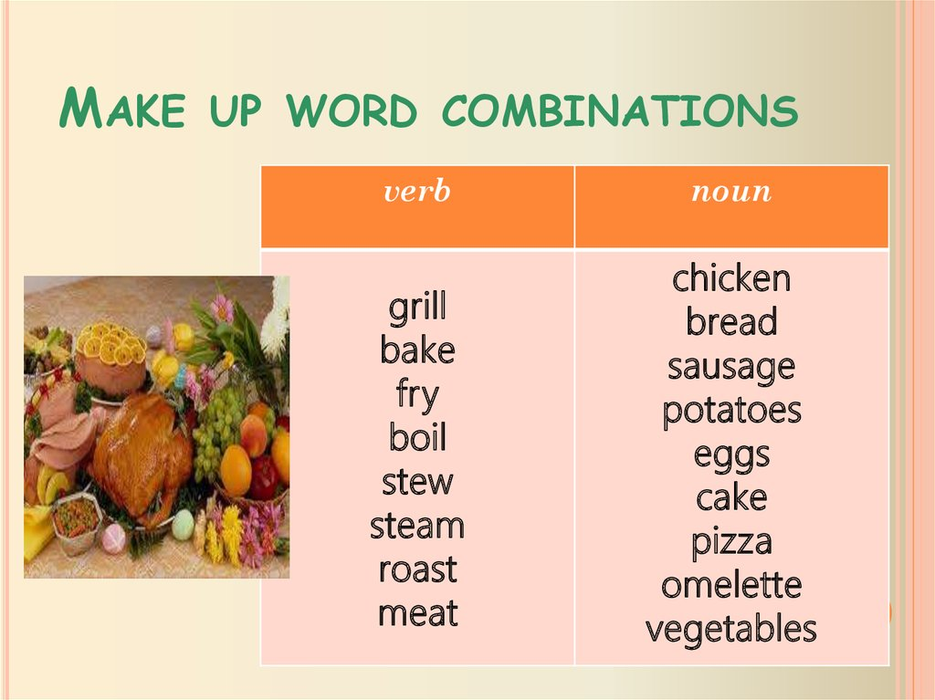 Make up word combinations