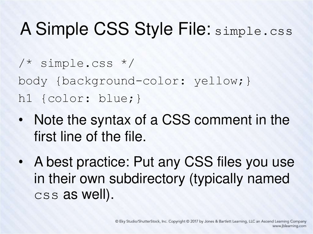 A Simple CSS Style File: simple.css