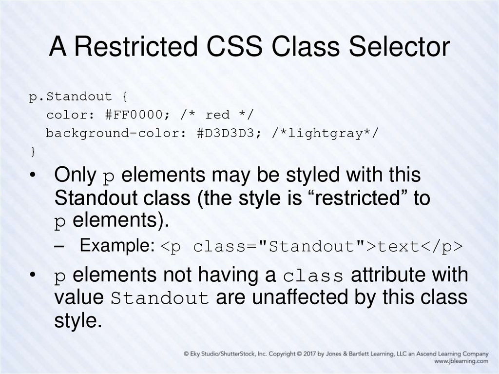 A Restricted CSS Class Selector