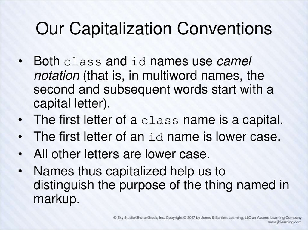 Our Capitalization Conventions