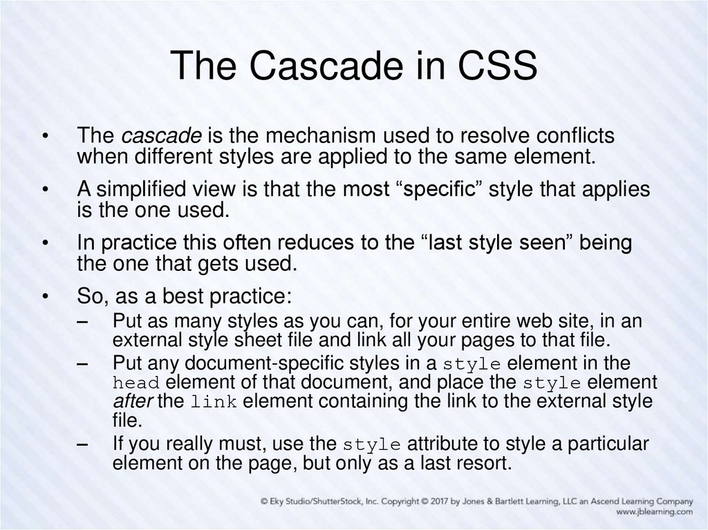 The Cascade in CSS