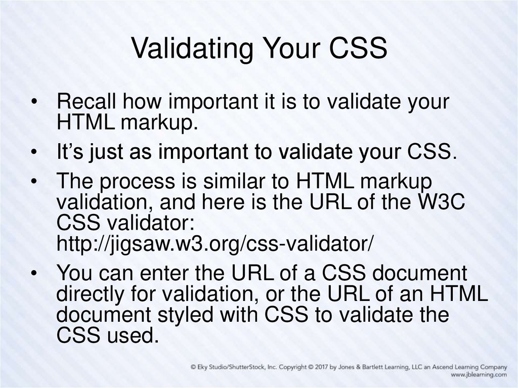 Validating Your CSS