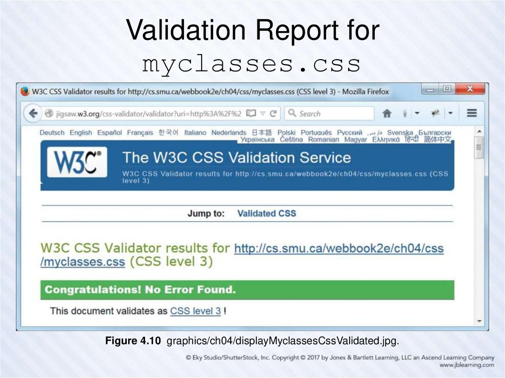 Validation Report for myclasses.css