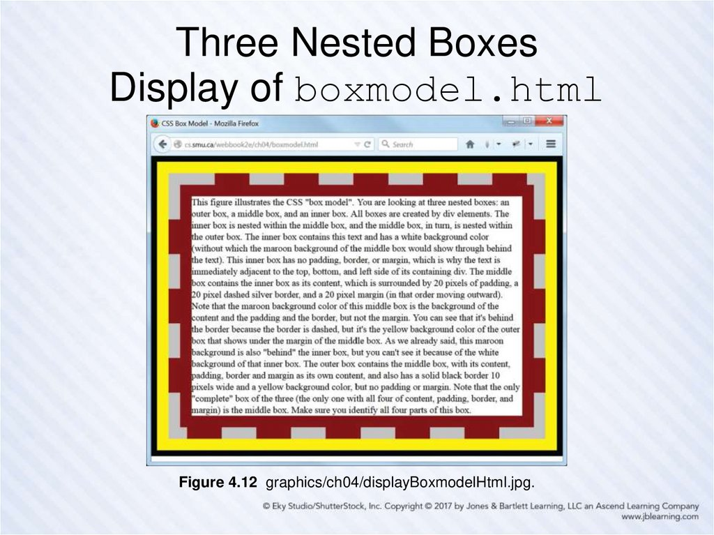 Three Nested Boxes Display of boxmodel.html