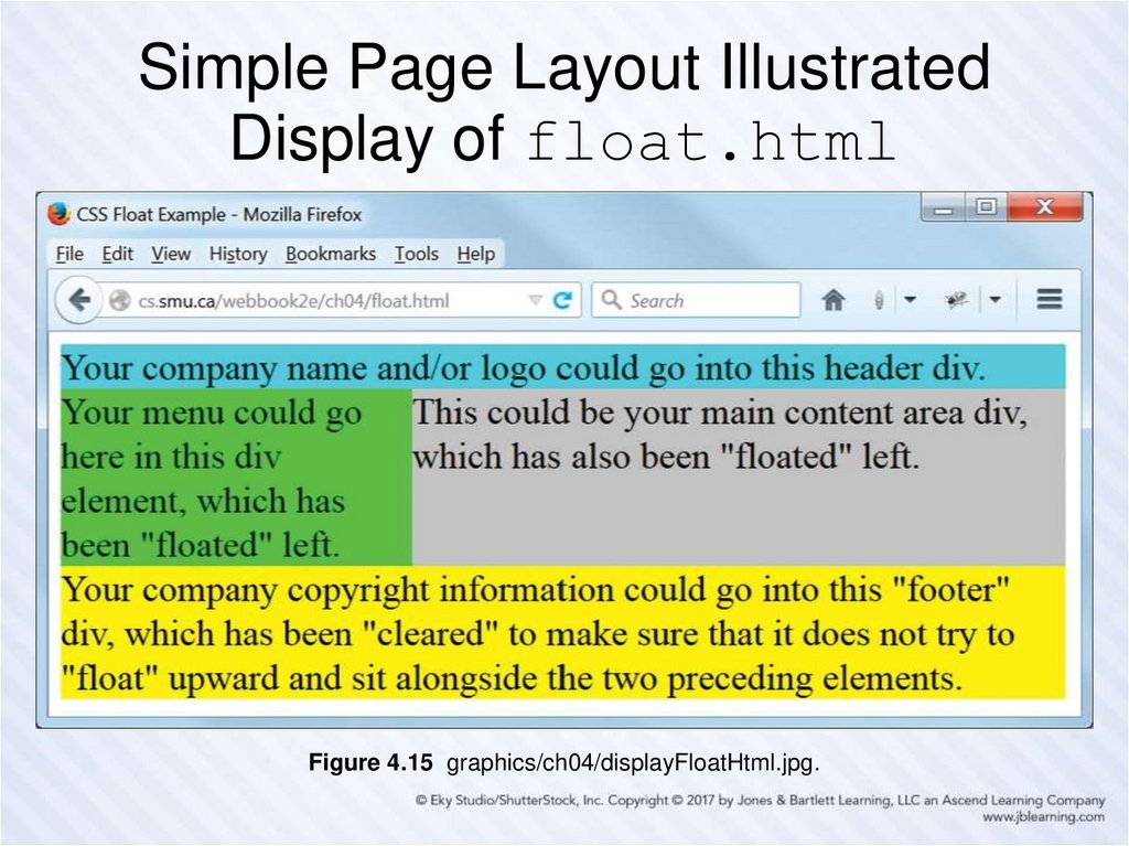 Simple Page Layout Illustrated Display of float.html