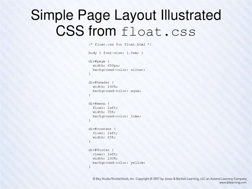 Simple Page Layout Illustrated CSS from float.css