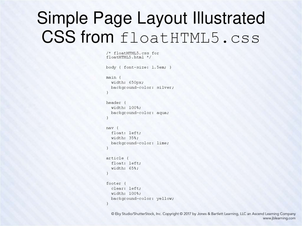 Simple Page Layout Illustrated CSS from floatHTML5.css