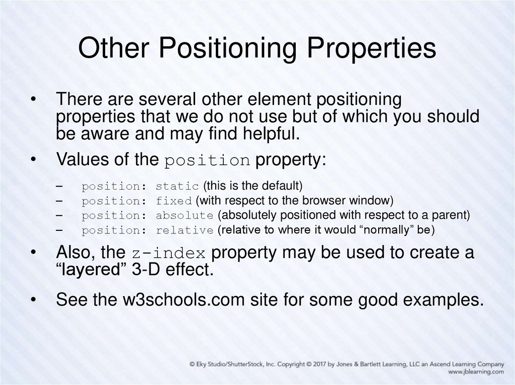Other Positioning Properties