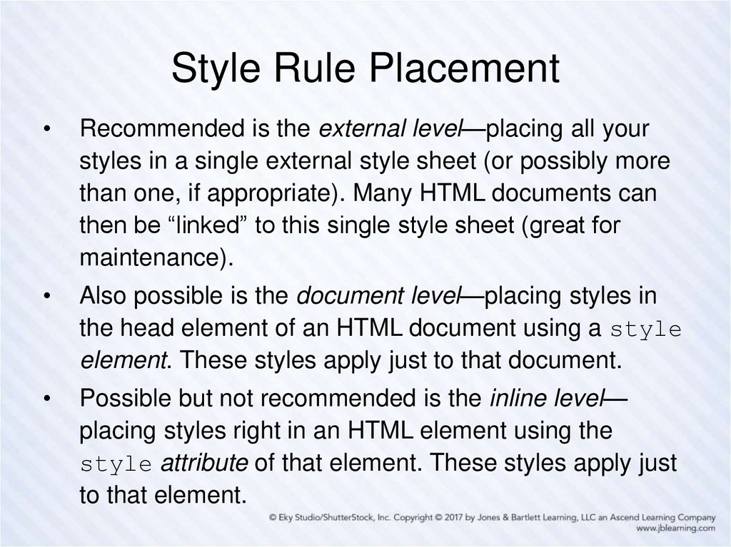 Style Rule Placement