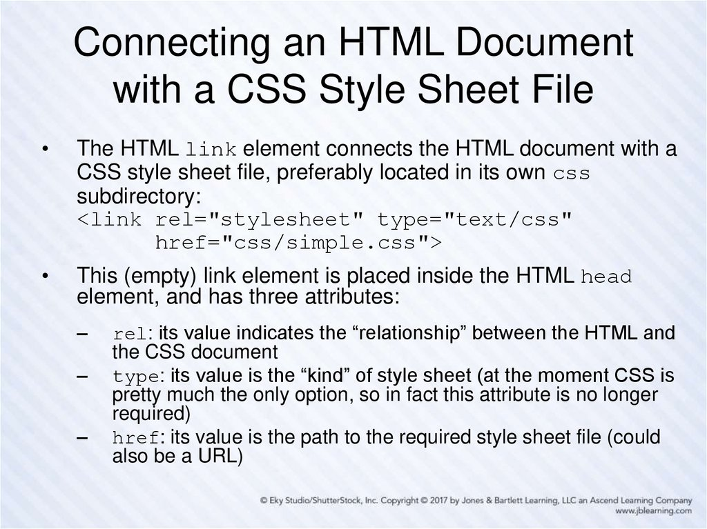 Connecting an HTML Document with a CSS Style Sheet File