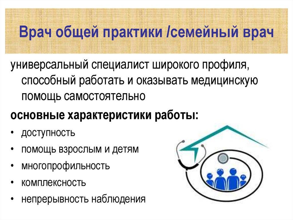 модели работы врача общей практики