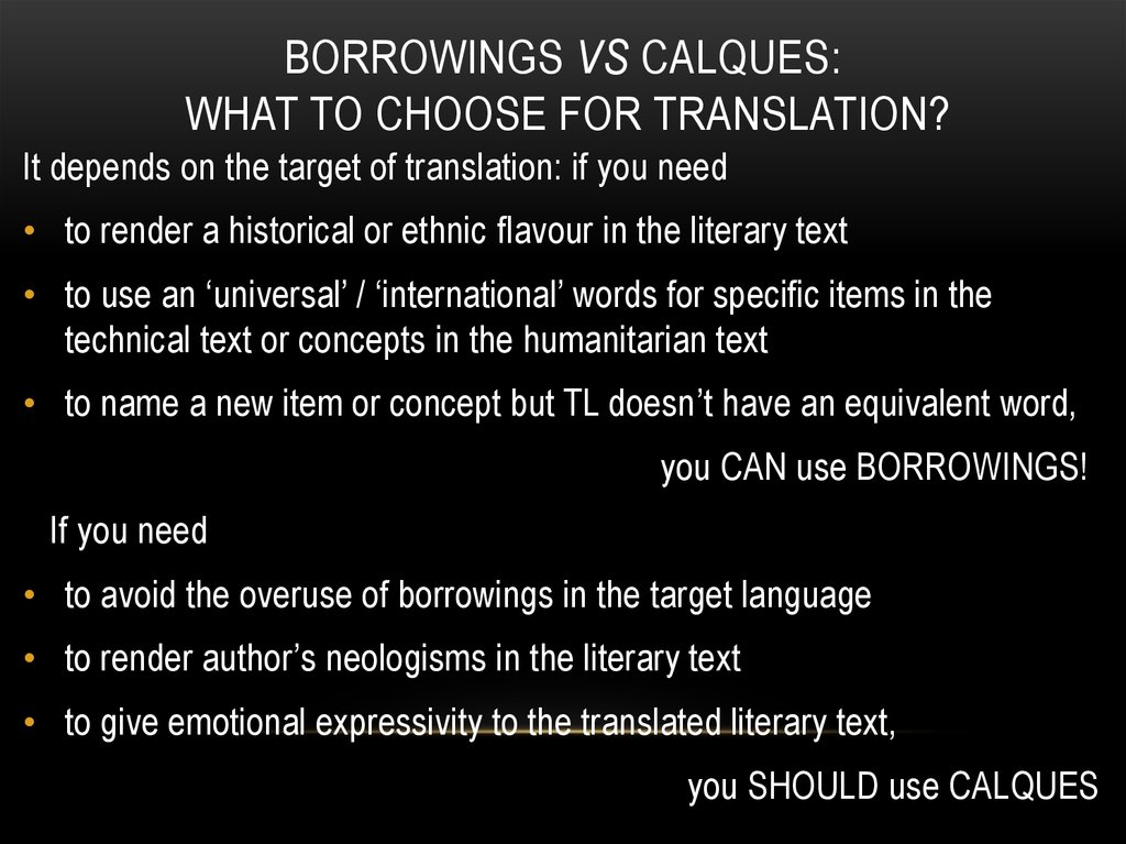 Borrowings vs calques: what to choose for translation?
