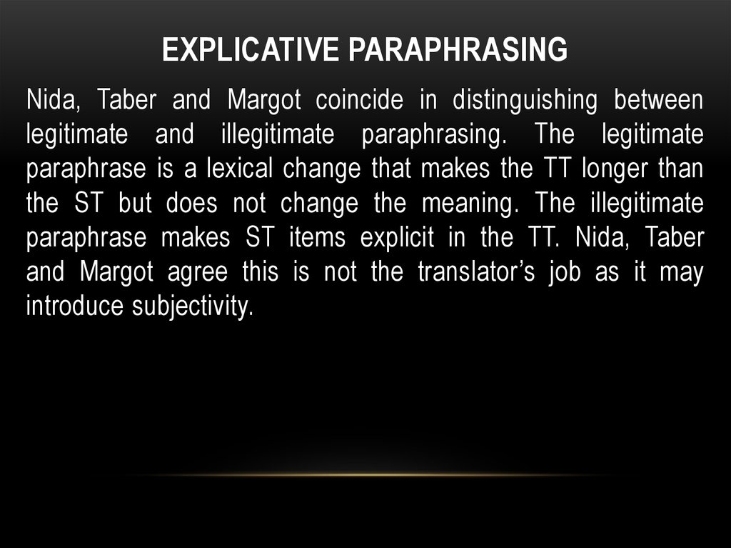 explicative paraphrasing