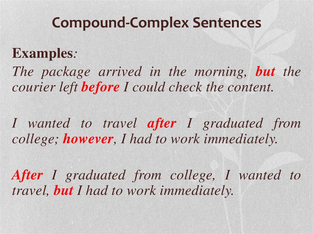 what is a simple sentence with a compound subject