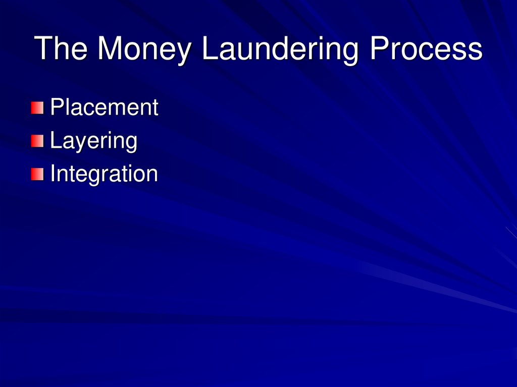 The Money Laundering Process