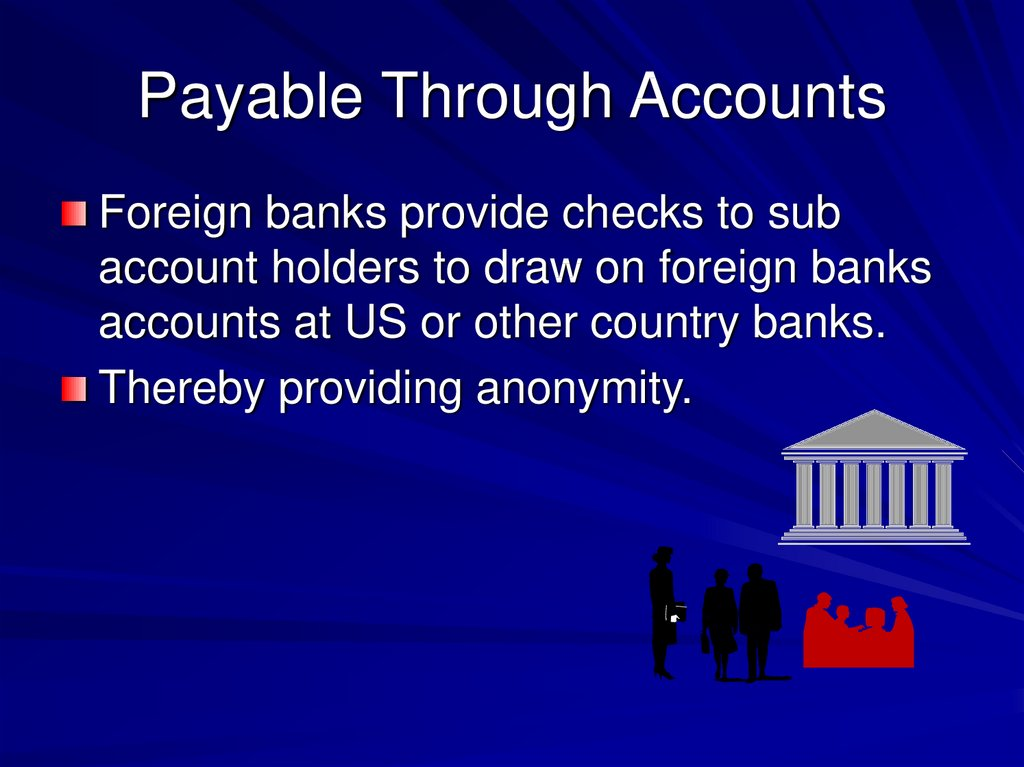 Payable Through Accounts
