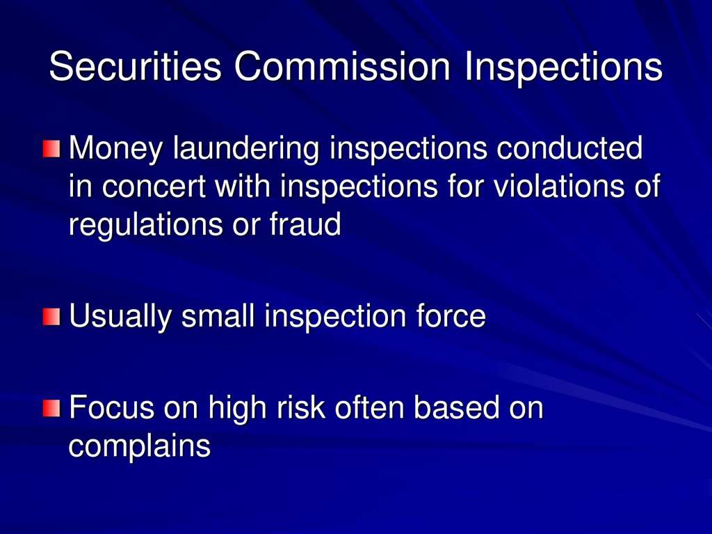 Securities Commission Inspections