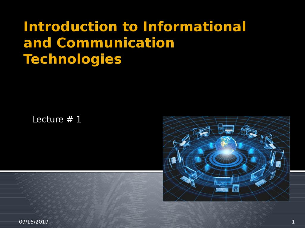 Introduction to Informational and Communication Technologies