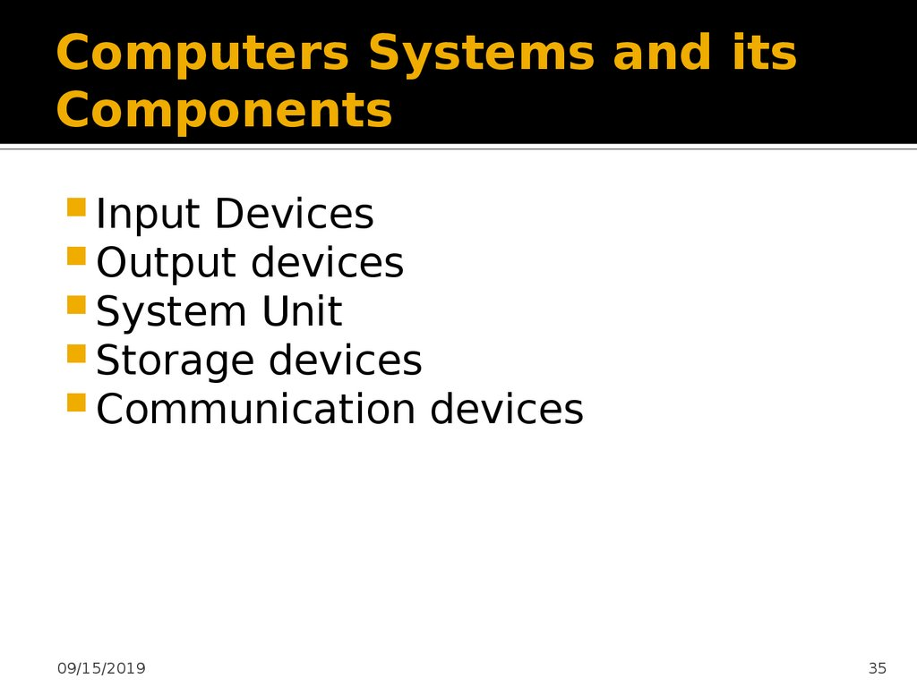 Computers Systems and its Components