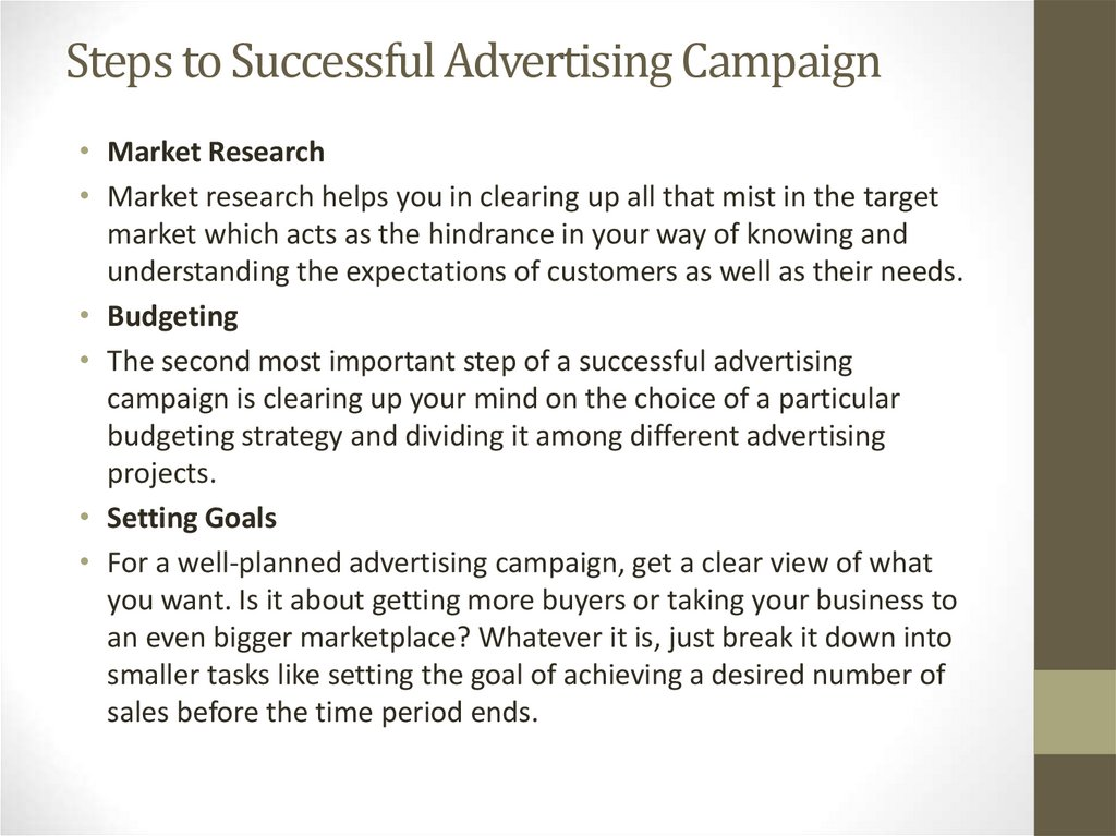 Steps to Successful Advertising Campaign