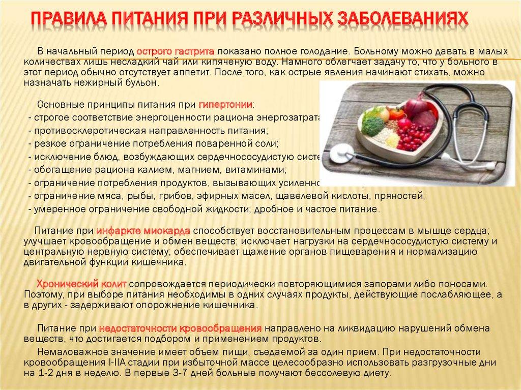 Питание пациентов диеты
